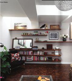shelving - tv where mirror is?