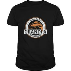 The man the myth the fishing legend grandpa - Tshirt