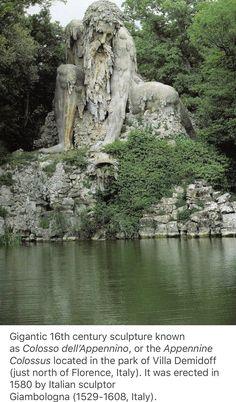 Colosso dell& by Giambologna, Villa Demidoff, Italia Vacation Trips, Vacation Spots, Places To Travel, Places To See, Beautiful World, Beautiful Places, Recoleta Cemetery, Fantasy Landscape, Future Travel