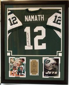 b5e983cf0 30x34 Framed Autographed Custom Jersey - Joe Namath New York Jets. Diy Shadow  BoxShadow ...