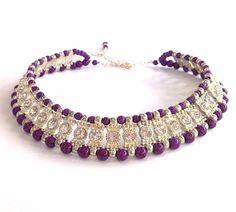 Purple & Crystal rhinestone statement by BijouxDesignsStudio, $128.00 - Beautiful!
