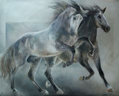 DesertRose/// beautiful Horse Pictures, Art Pictures, Animals And Pets, Cute Animals, Horse Artwork, Horse Paintings, Painted Pony, Amazing Paintings, Horse Drawings