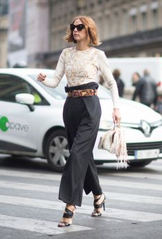 How to Wear Paper Bag Pants | StyleCaster