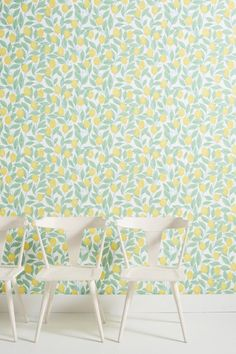 october wallpaper Brightly hued lemons and leaves spark a refreshing sense of levity in a kitchen, breakfast nook, or sun room. Make a statement with our assortment of vibrant, Decor, Wallpaper Accent Wall, Kitchen Wallpaper, Removable Wallpaper, Accent Wall, Kitchen Colors, Wallpaper, October Wallpaper, Home Decor
