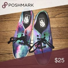 Authentic galaxy Vans In good condition, just a little dirty!! Vans Shoes Sneakers