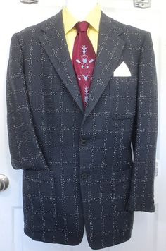 Awesome looking jacket!  Classic Vintage1950's Man's  Hand Tailored by delilahsdeluxe, $57.50