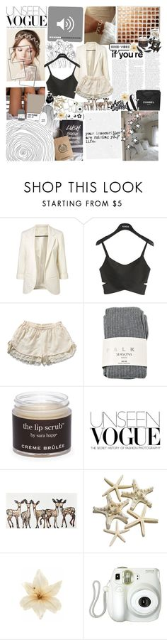 """What i`m looking for. ♡"" by autumn-skies ❤ liked on Polyvore featuring KEEP ME, Falke, Sara Happ, Chanel, Clips, Branca, Assouline Publishing, women's clothing, women and female"