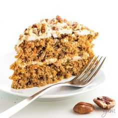The best keto low carb carrot cake recipe ever! The steps for how to make sugar-free carrot cake with almond flour are surprisingly easy. So moist and delicious, no one will guess it's gluten-free and sugar-free. Paleo and dairy-free options, too.