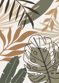 Minimalist Wallpaper, Minimalist Art, Cute Wallpapers, Wallpaper Backgrounds, Leaves Wallpaper, Wallpaper Art, Abstract Line Art, Cute Patterns Wallpaper, Diy Canvas Art