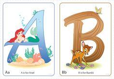 FREE Disney Character Alphabet Printables from Disney Preschool