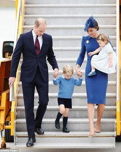 The Princess hasn't yet had the chance to meet with her British Royal counterparts, pictured arriving in Canada on Saturday