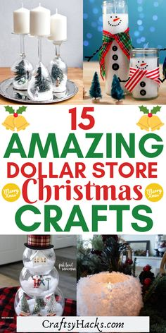 15 Amazing Dollar Store Christmas Crafts