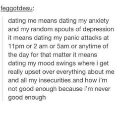 Dating someone with anxiety, I just need to find someone to love ...