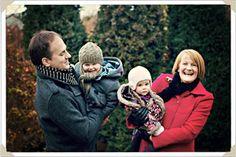 winter family fun portrait