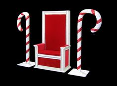 Santa Chair and Candy Canes | The Stuart Rental Company