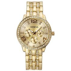 Business Unisex Quartz Wristwatch Luxury Rhinestone Stainless Steel Strap Watches for Women Men is hot-sale, stainless steel watch, sport watches for men, and more other cheap mens watches are provided on NewChic. Uganda, Sierra Leone, Cheap Watches For Men, Unique Watches, Stylish Watches, Gold Line, Luxury Watches, Gold Watches, Quartz Watches