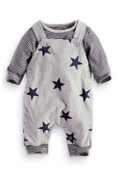 Buy Grey Star Dungarees (0-18mths) online today at Next: United States of America