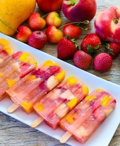 For these ice pops, I took my favorite Ice Tea Sangria Cocktails and turned them into popsicles. These adults-only sangria popsicles are loaded with fresh fruit and are a refreshing, boozy treat. Ice Pop Recipes, Popsicle Recipes, Meal Recipes, Fruit Recipes, Drink Recipes, Sweet Recipes, San Diego Food, Homemade Popsicles, Ice Pops