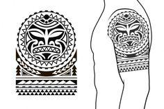 Feather Tattoo For Men, Aztec Tattoo Designs, Tribal Arm Tattoos, Maori Tattoos, Polynesian Tattoo Sleeve, Polynesian Tattoo Designs, Sleeve Tattoos, Shoulder Armor Tattoo, Tribal Shoulder Tattoos