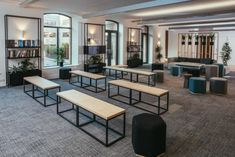 Terry Design has created a workplace for software company, Instil, that reflects in a physical sense the benefits of custom design located in Belfast, Workspace Design, Office Interior Design, Office Interiors, Office Free, Train Room, Belfast, Ottoman, Custom Design, Lounge