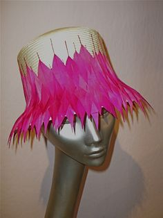 pink feathers Pink Feathers, Captain Hat, Crown, Hats, Jewelry, Corona, Jewlery, Hat, Jewerly