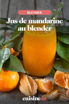 Pour préparer ce jus de mandarine au blender, 6 mandarines, 1 pomme et 1 citron sont nécessaires. #recette#cuisine#jus#fruit #agrume #mandarine #pomme #citron #blender #robot Jus Fruit, Blender, Robot, Orange, Apple, Cooking Recipes, Drinks, Robots