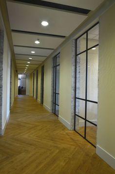 Stalen binnenpui en -deuren op kantoor   www.simply-steel.nl
