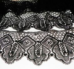 Antique Victorian Lace Skirt Edging  3 yards cotton mourning lace available at New Millennium Beatnik on ArtFire  $54.00