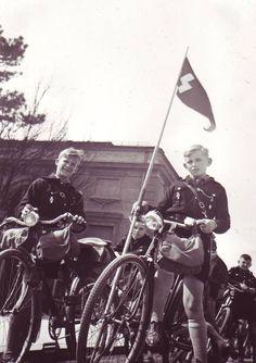 Hitlerjugend on bikes