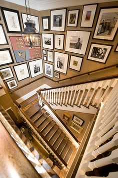Framed pictures in clusters
