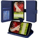 nice myLife Cougar Blue {Professional Design} Faux Leather (Multipurpose – Card, Cash and ID Holder + Magnetic Closing) Folio Slimfold Wallet for the LG G2 Smartphone (External Textured Synthetic Leather with Magnetic Clip + Internal Secure Snap In Closure Hard Rubberized Bumper Holder)