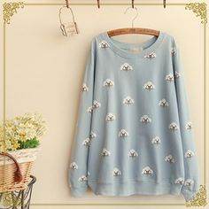 Buy 'Fairyland – Cloud Print Pullover' with Free International Shipping at YesStyle.com. Browse and shop for thousands of Asian fashion items from China and more!