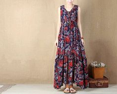 red chiffon Dress casual loose dress chiffon blouse prom party dress vintage dress L295 on Etsy, $49.69