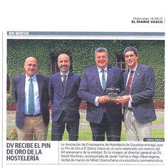 Diario Vasco y San Sebastián Gastronomika reciben el pin de oro de Asociación de Empresarios de Hostelería de Gipuzkoa Toda la info, pinchando sobre la imagen.