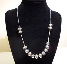 Sterling Silver Crystal Necklace  - Valentine by CopperfoxGemsJewelry on Etsy https://www.etsy.com/listing/113870217/sterling-silver-crystal-necklace