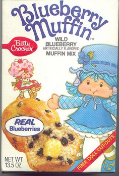 Blueberry Muffin Mix. I don't remember us ever having these, but I'm sure I would have wanted them had I seen them. I loved everything Strawberry Shortcake related!