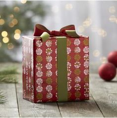Peppermint Candy Gift Wrap in Gift Wrap   Crate and Barrel