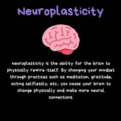 When you change your thoughts it's not just a game changer, it's a brain changer! Who's ready for a rewire? Brain Science, Science Facts, Mental And Emotional Health, Mental Health Awareness, Neural Connections, Brain Facts, Brain Anatomy, Neuroplasticity, Psychology Facts