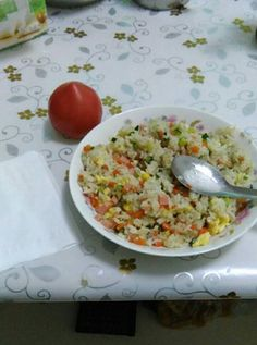"""The normal fried rice with egg is a common dish. The earliest record can be found in the bamboo slips unearthed from Mawangdui Han tomb in Changsha, Hunan Province in 1972. According to experts, """"egg"""" is a kind of food made of sticky rice and eggs. Healthy Chinese Recipes, Fried Rice With Egg, Changsha, Rich In Protein, Chinese Food, Stir Fry, Food Print, Cucumber, Carrots"""
