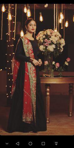 Pakistani Dresses, Indian Dresses, Fancy Dress Material, Sajjal Ali, Dress Outfits, Dress Up, Ethnic Dress, Pakistani Actress, Best Actress