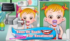 Assist dentist in cleaning gums and teeth of Baby Hazel so that her sore gums are healed https://play.google.com/store/apps/details?id=air.org.axisentertainment.BabyHazelGumsTreatment