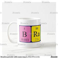 Yoshi periodic table name mug periodic table brandon periodic table name mug urtaz Choice Image