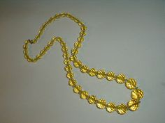 gorgeous vintage yellow cut crystals necklace by fadedglitter42263, $165.00