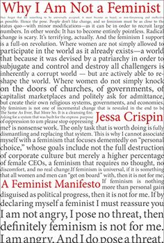 Why I Am Not A Feminist: A Feminist Manifesto by Jessa Cr... https://www.amazon.com/dp/1612196012/ref=cm_sw_r_pi_dp_x_jnZlybR19WY28