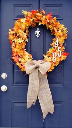 Out of the Ordinary Door Decor: Remarkable DIY Wreaths for Fall
