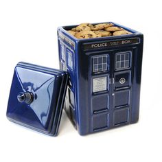 @Overstock - Keep your baked goodies hidden away from the evil Daleks by using the TARDIS Ceramic Cookie Jar. Sculpted to mimic a 1960s-style London police box, the cookie container is perfect for any Whovian.http://www.overstock.com/Home-Garden/Doctor-Who-TARDIS-Ceramic-Cookie-Jar/7519665/product.html?CID=214117 $41.49