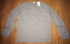 J. Crew L XL Heather Grey 100% CottonSweatshirt Style T-Shirt Lightweight NWT #JCrew #SweatshirtTee