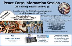 Life is calling. How far will you go? Learn more about volunteering with the Peace Corps at the info session on Tuesday. #oducmc #peacecorps #volunteer