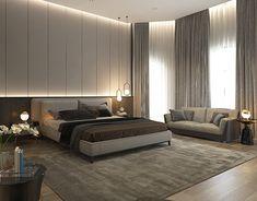 Bedroom Lamps Design, Simple Bedroom Design, Living Room Sofa Design, Luxury Bedroom Design, Home Room Design, Interior Design, Black Master Bedroom, Luxurious Bedrooms, House Rooms