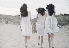 in white linen